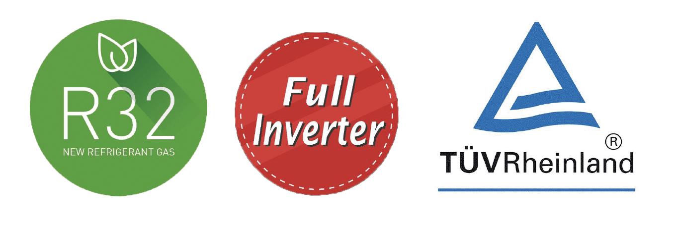 Inverter-Wärmepumpe MIDA.Boost: WiFi – Kühlen –Heizen – App-Store – Google-Play