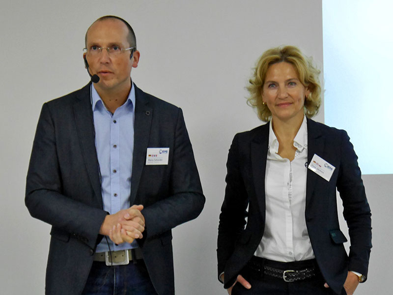 MIDAS Managing Director Elena Jakobson and Sales Manager Marco Schneider welcome the guests