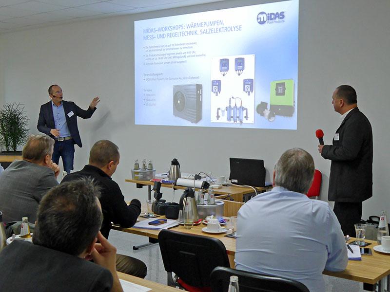 Marco Schneider and Jürgen Schlattner of MIDAS provide information on heat pumps with inverter technology and the MIDAS training program