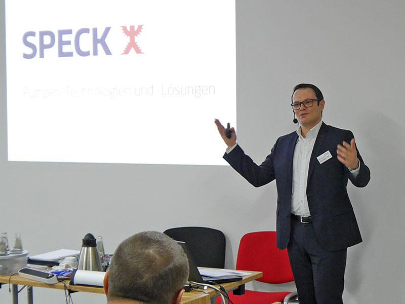 Christoph Ott from Speck Pumpen presents new pump developments